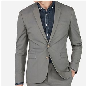 Express Extra Slim Cotton Stretch Suit Jacket